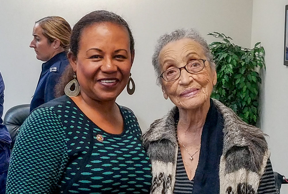 Pioneer Betty Reid Soskin Visits U. S. Coast Guard Base Alameda