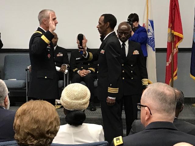 Promotion Ceremony CAPT (SEL) Washington Johnson, CHC, USN