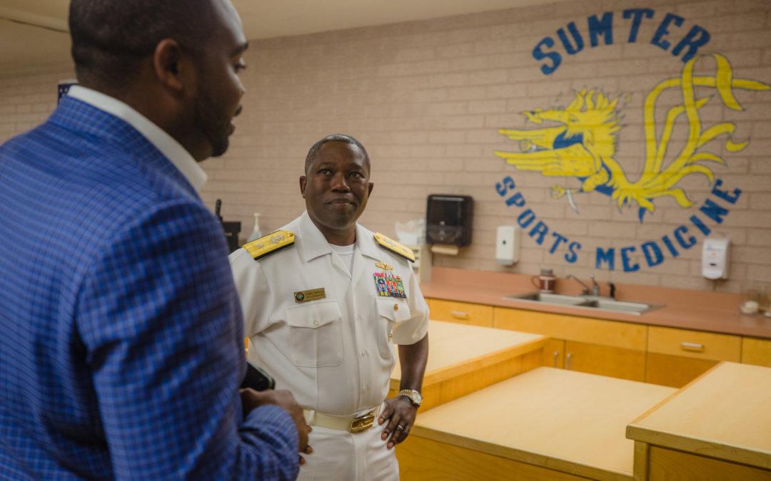Navy Admiral Cedric Pringle Visits Hometown of Sumter