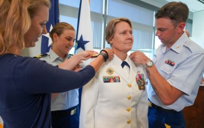 Adm. Linda Fagan Sworn In as USCG Vice Commandant, Becoming First Female Four-Star Admiral in Coast Guard History