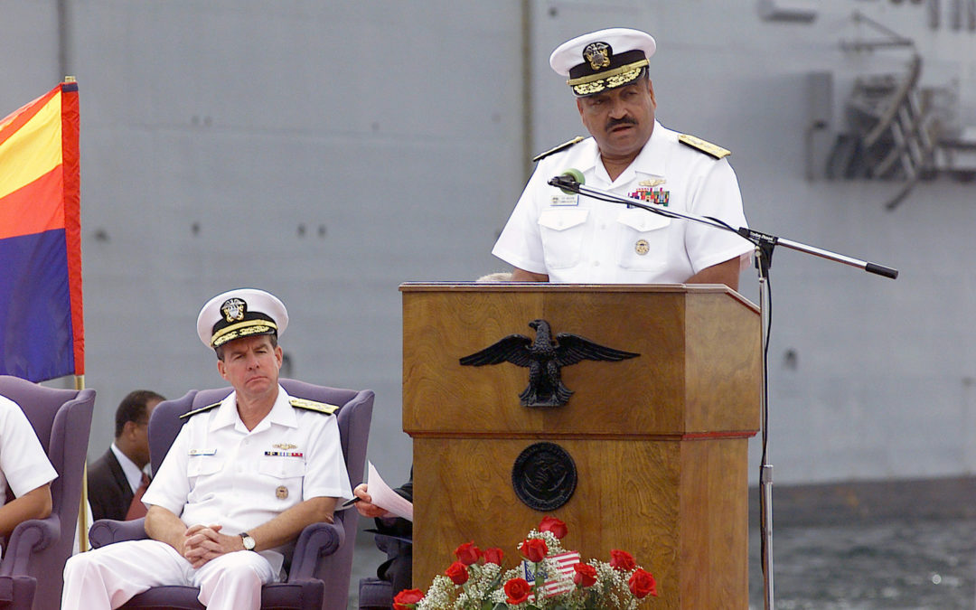 Vice Admiral Edward Moore, USN Retired receives the Laurel Wreath Award